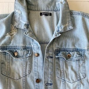ELWOOD Distressed Jean Jacket